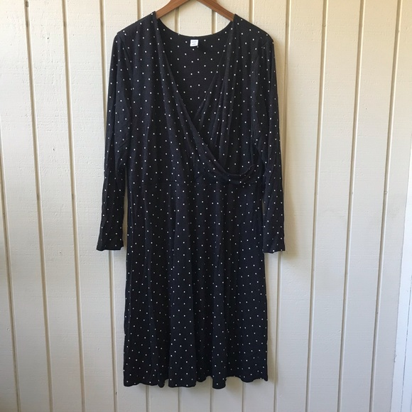 Old Navy Dresses & Skirts - Old Navy Polka Dot Faux Wrap V Neck Dress